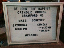 St. John the Baptist Catholic Church- lodging in Crawford